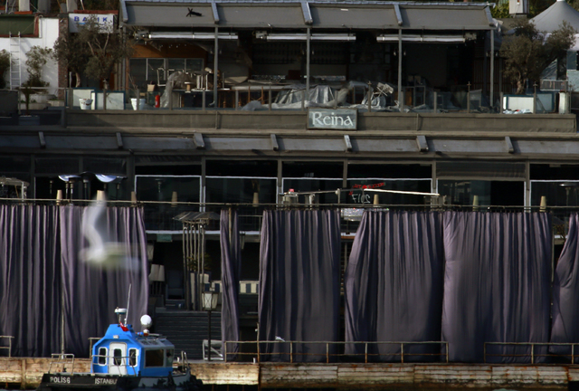 A view of a nightclub by the Bosphorus, which was attacked by a gunman overnight, in Istanbul, on New Year's Day, Sunday, Jan 1, 2017. (Emrah Gurel/AP)