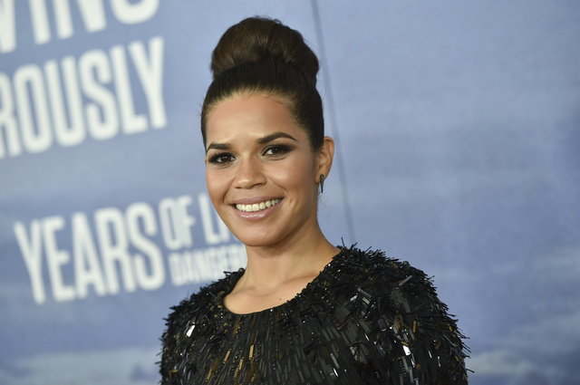 In this Sept. 21, 2016 file photo, America Ferrera is seen in New York. Hollywood will be turning out in force for the women's march on Washington set to follow Donald Trump's inauguration. Fe ...