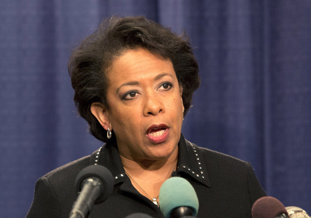 Attorney General Loretta Lynch speaks during a news conference Friday, Jan. 13, 2017, in Chicago. The U.S. Justice Department issued a scathing report on civil rights abuses by Chicago's police de ...