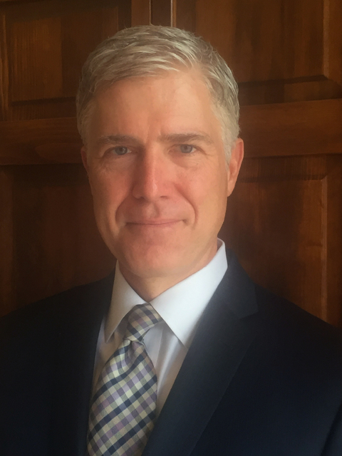 Sources say Judge Neil Gorsuch has met with President Donald Trump about the Supreme Court vacancy. (10th U.S. Circuit Court of Appeals  via AP)
