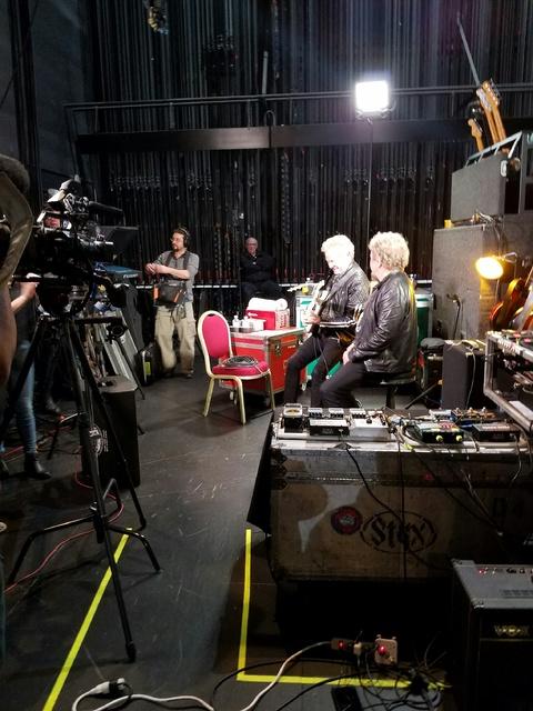 Don Felder and Sammy Hagar at The Venetian on Friday, Jan. 13, 2017, in Las Vegas. (TVT)