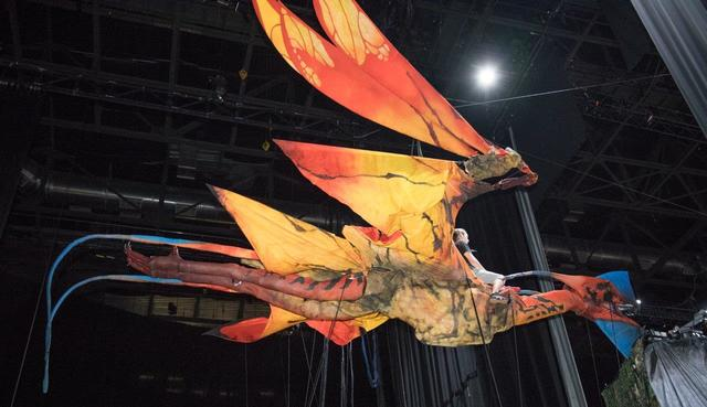 "Behind-the-scenes of the touring ""Toruk: The First Flight"" by Cirque du Soleil at T-Mobile Arena on Wednesday, Jan. 18, 2017, in Las Vegas. (Tom Donoghue)"