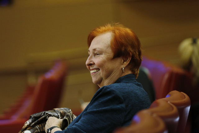 Barbara Atkinson, founding dean of UNLV School of Medicine, attends a town hall meeting to discuss an overview of the Las Vegas Medical District at City Hall in Las Vegas, Tuesday, Jan. 24, 2017.  ...