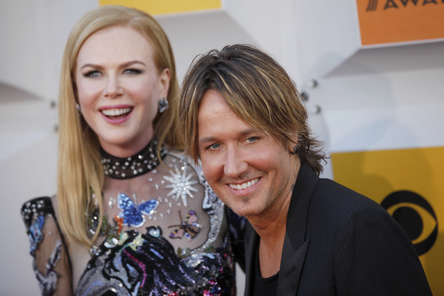 Nicole Kidman and Keith Urban walk the red carpet at the 51st Academy of Country Music Awards on Sunday, April 3, 2016, at MGM Grand in Las Vegas.  (Rachel Aston/Las Vegas Review-Journal)