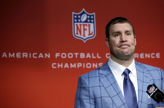 Pittsburgh Steelers quarterback Ben Roethlisberger listens to a question during a news conference after the AFC championship NFL football game against the New England Patriots, Sunday, Jan. 22, 20 ...