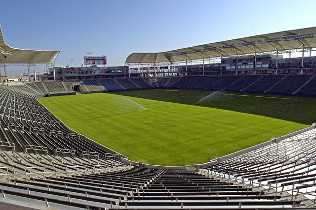 This May, 2003 file photo shows what was then known as Home Depot Center, renamed in June of that year to StubHub Center, In Carson, Calif. Currently home to the MLS Los Angeles Galaxy soccer team ...