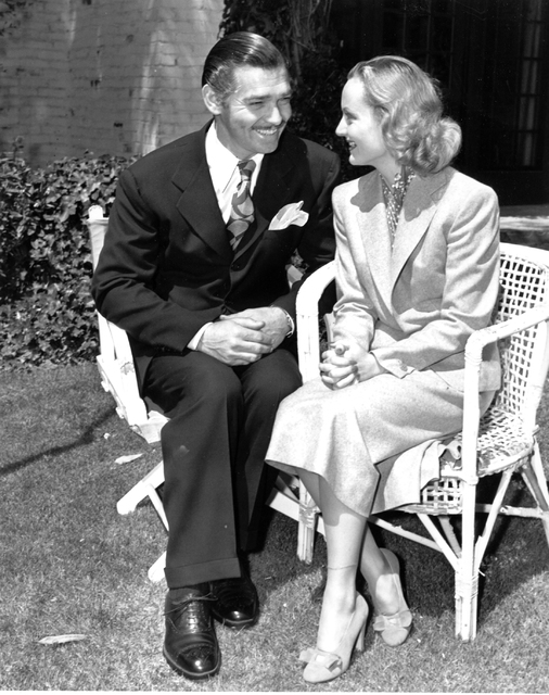 Clark Gable and his bride Carole Lombard shown back in Hollywood on March 30, 1939 after their elopement in Kingman, AZ. (AP Photo)