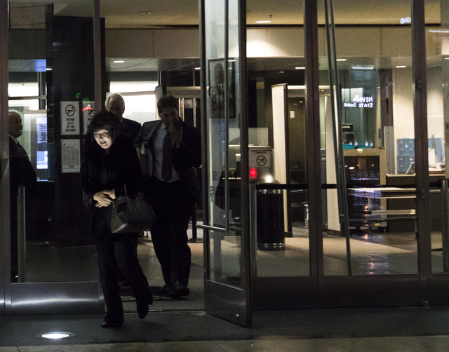 Mi Morse leaves the Lloyd George U.S. Courthouse after her hearing in downtown Las Vegas on Thursday, Jan. 12, 2017. The Aria is suing former executive, Mi Morse, and the Cosmopolitan, where she n ...