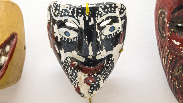 "A traditional Mexican mask in the newly opened ""Masking"" exhibit at UNLV's Barrick Museum of Art on Monday, Jan. 23, 2017, in Las Vegas. Benjamin Hager/Las Vegas Review-Journal"