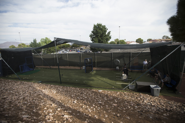 The Cashman Field outdoor batting cage is seen before the start of the last game of the season for the Las Vegas 51s on Saturday, Aug. 27, 2016, in Las Vegas. (Erik Verduzco/Las Vegas Review-Journ ...