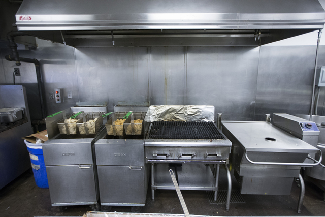 The Cashman Field kitchen is seen before the start of the last home game of the season for the Las Vegas 51s on Saturday, Aug. 27, 2016, in Las Vegas. (Erik Verduzco/Las Vegas Review-Journal) Foll ...