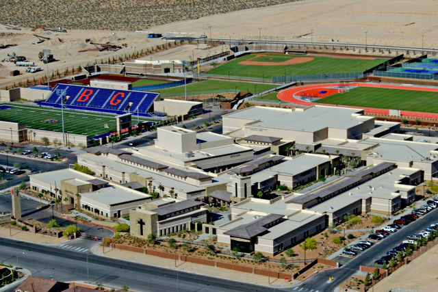 Aerial view of Bishop Gorman Catholic High School. (Bishop Gorman/Facebook)