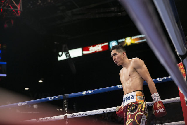 Leo Santa Cruz before his fight against Carl Frampton in the WBA Featherweight Championship bout at MGM Grand Garden Arena on Saturday, Jan. 28, 2017, in Las Vegas. Santa Cruz won by split decisio ...