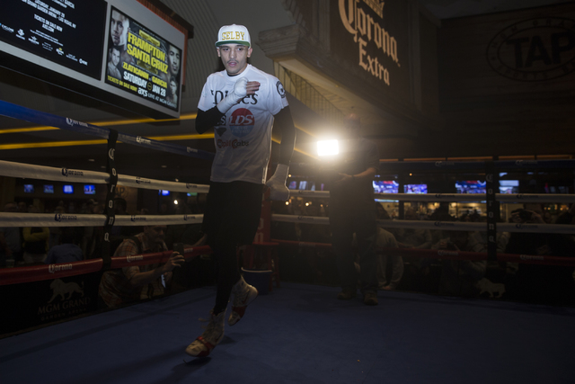 Lee Selby during a boxing media workout event at the MGM Grand hotel-casino on Wednesday, Jan. 25, 2017, in Las Vegas. (Erik Verduzco/Las Vegas Review-Journal) Follow @Erik_Verduzco