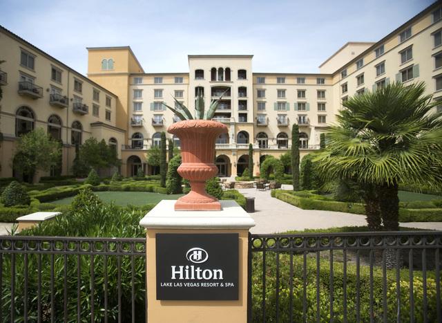 Hilton Lake Las Vegas Resort & Spa located at 1610 Lake Las Vegas Parkway in Henderson as seen Friday, May 16, 2014.  (Jeff Scheid/Las Vegas Review-Journal)