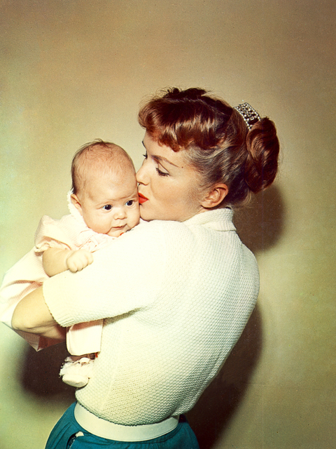 Debbie Reynolds holds Carrie Fisher. (Fisher Family Archives/HBO)