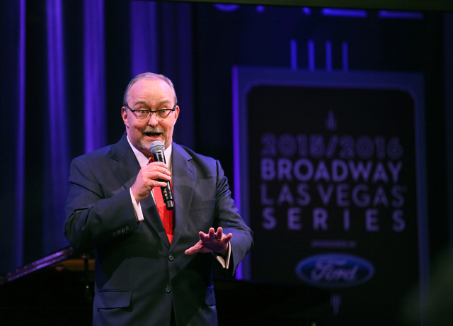Myron Martin, The Smith Center president, speaks to the audience during a reveal of the The Smith Center's 2015-16 Broadway season lineup at The Smith Center Monday, Feb. 23, 2015, in Las Vegas. ( ...