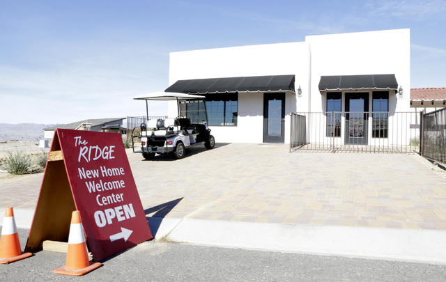 The New Home Welcome Center at Fox Creek subdivision at the Ridge in Bullhead City, Ariz., on Thursday, Jan 6, 2017. (Bizuayehu Tesfaye/Las Vegas Review-Journal)@bizutesfaye