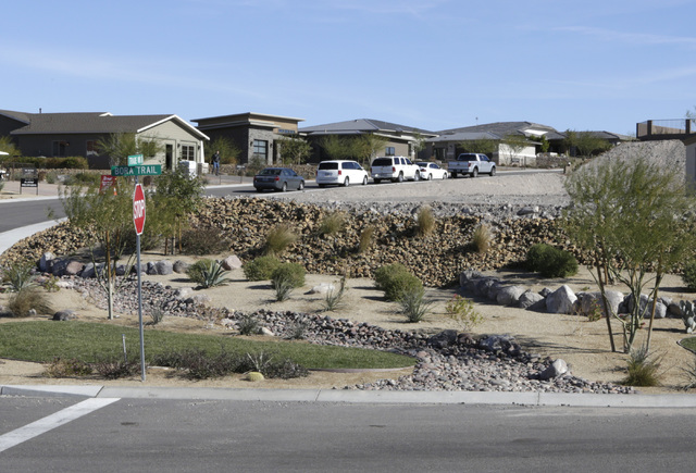 New homes under at Fox Creek subdivision project at the Ridge in Bullhead City, Ariz., on Thursday, Jan 6, 2017. (Bizuayehu Tesfaye/Las Vegas Review-Journal)@bizutesfaye