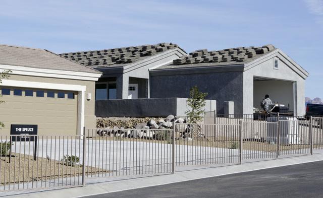 Home under construction at Fox Creek subdivision at the Ridge in Bullhead City, Ariz., on Thursday, Jan 6, 2017. (Bizuayehu Tesfaye/Las Vegas Review-Journal)@bizutesfaye