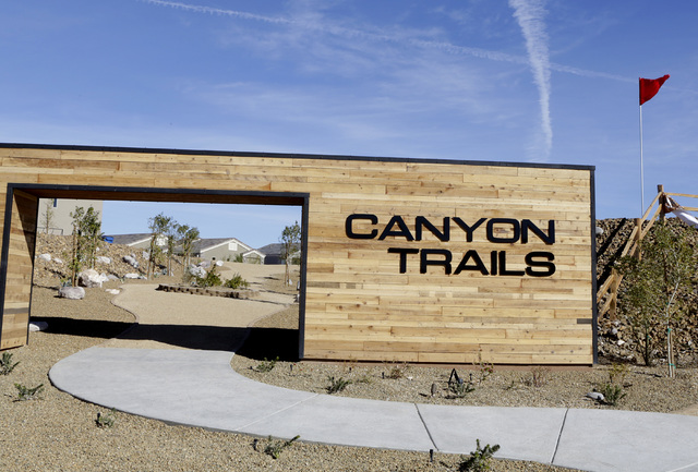 Canyon Trails, a neighborhood in the active adult new home community of Fox Creek in Bullhead City, Ariz., on Thursday, Jan 6, 2017. (Bizuayehu Tesfaye/Las Vegas Review-Journal)@bizutesfaye