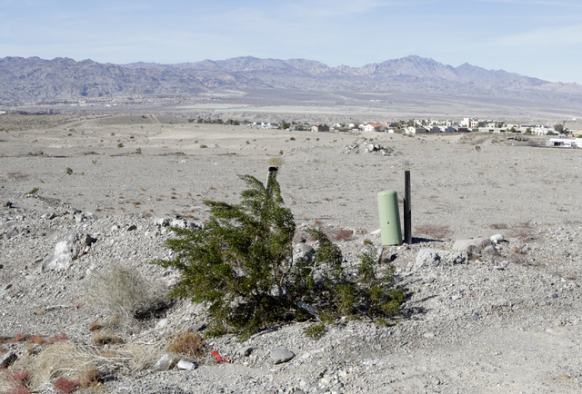 Vacant lots at partially build subdivision on Park Place Lane and Montano Ridge Drive in Bullhead City, Ariz., on Thursday, Jan 6, 2017. (Bizuayehu Tesfaye/Las Vegas Review-Journal)@bizutesfaye