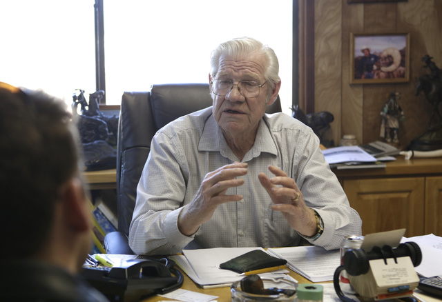 Larry Adams, owner of Pueblo Construction Inc., talks about Arizona's homebuilding market during an interview at his office in Bullhead City, Ariz., on Thursday, Jan 6, 2017. (Bizuayehu Tesfaye/La ...