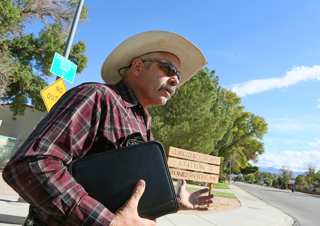 Bunkerville, Nevada, town official Duane Magoon. (Ronda Churchill for The Washington Post)