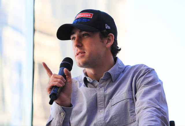 Monster Energy NASCAR Cup Series driver Ryan Blaney answers questions during West Coast Media Day at the Bellagio in Las Vegas on Thursday, Jan. 26, 2017. (Brett Le Blanc/Las Vegas Review-Journal) ...