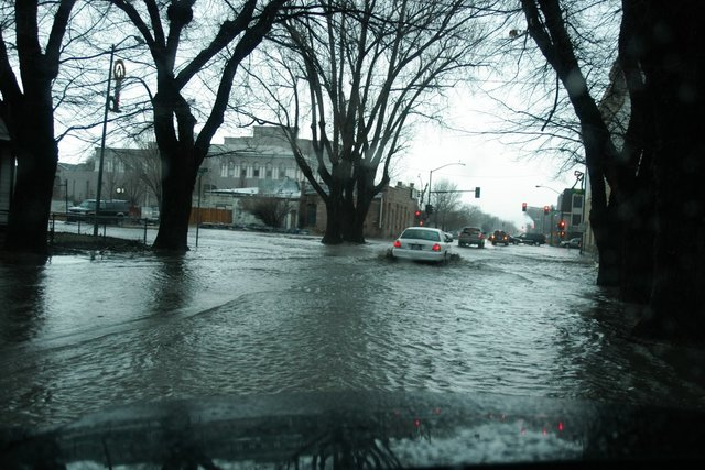 Flooding at 5th and Highway 395 in Carson City in this 2005 file photo. (@NWSReno/Twitter)