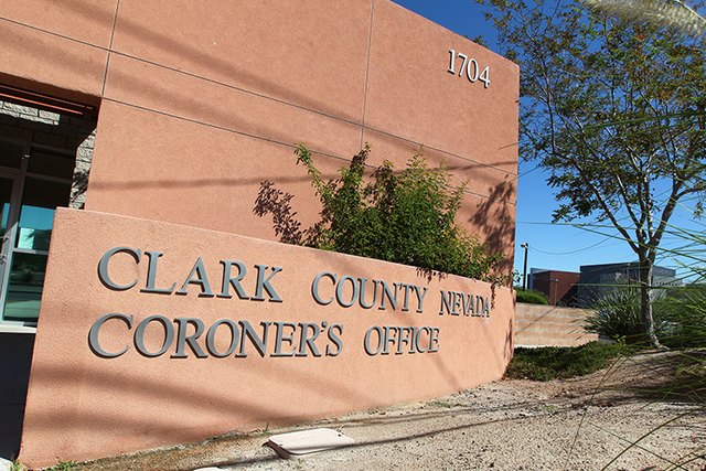 The Clark County Coroner's Office is seen at 1704 Pinto Ln. in Las Vegas on Monday, Sept. 15, 2014. (Chase Stevens/Las Vegas Review-Journal)