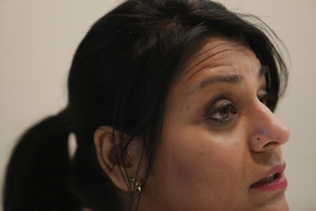 Saru Aggarwal speaks to a reporter at the UNLV Ackerman Autism Center on Wednesday, Jan. 11, 2017, in Las vegas. Aggarwal went through a community health worker program, which recruits UNLV and CS ...