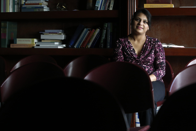 Saru Aggarwal at the UNLV Ackerman Autism Center on Wednesday, Jan. 11, 2017, in Las vegas. Aggarwal went through a community health worker program, which recruits UNLV and CSN students to serve a ...