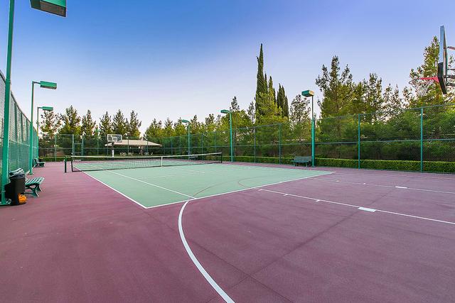 The 6.8-acre estate on 8101 O'Bannon Drive has a tennis court. (Courtesy)