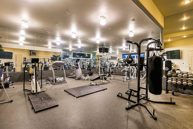 The estate has its own gym. (Courtesy)