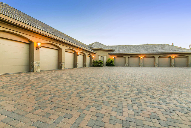 The property has an air-conditioned 10-car garage. (Courtesy)
