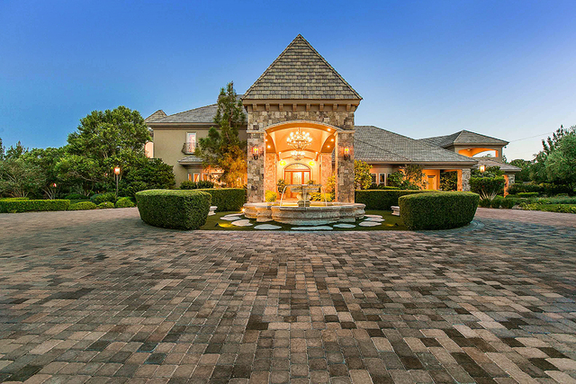 The 16,462-square-foot home has five bedrooms and eight baths. (Courtesy)