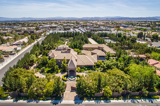 This 6.8-acre estate at 8101 O'Bannon Drive has a main house and two guest homes. It's listed for $6.5 million.