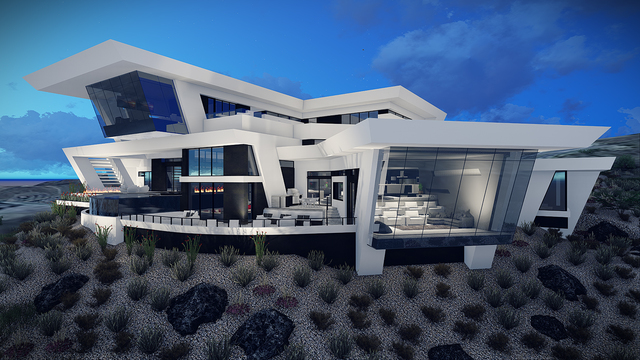 COURTESY This rendering shows a luxury home Blue Heron is building in the Las Vegas Valley.