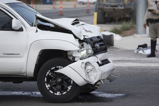 Two cars crashed in August at North Fort Apache Road and West Lone Mountain Road. Erik Verduzco/View Follow @Erik_Verduzco