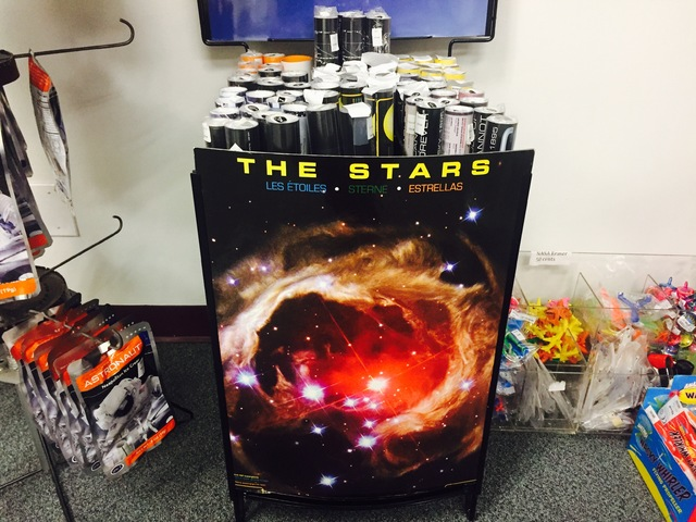 Posters displayed in the astronomy store at the CSN North Las Vegas Campus on Friday, Jan. 13, 2017. (Raven Jackson/Las Vegas Review-Journal) @ravenmjackson