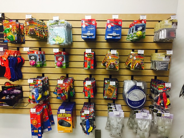 Toys hang in the astronomy store at the CSN North Las Vegas Campus on Friday, Jan. 13, 2017. (Raven Jackson/Las Vegas Review-Journal) @ravenmjackson