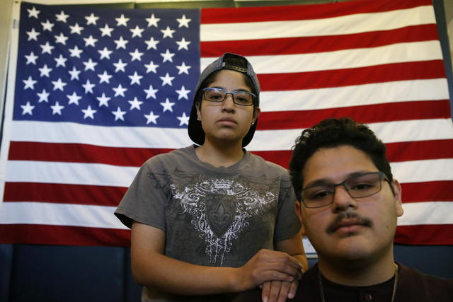 Katheryne Morales-Abarco, 24, left, of Cuernavaca Morelo, Mexico and her brother Luis-Angel Morales-Abarco, 21, at the Rafael Rivera Community Center on Tuesday, Jan. 24, 2017, in Las Vegas. They  ...