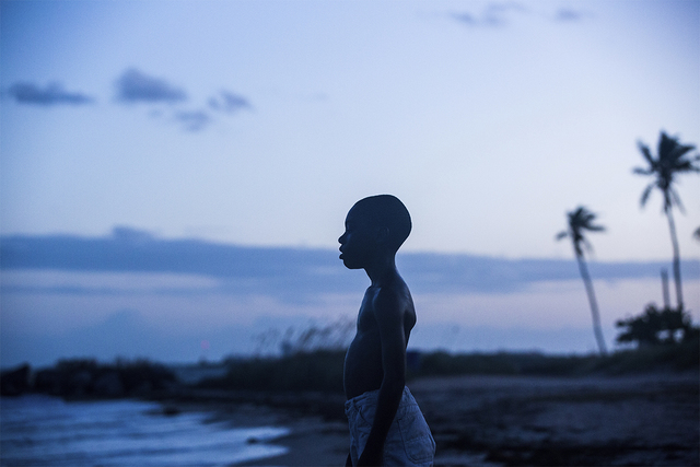 "Alex Hibbert stars in ""Moonlight,"" which received an Oscar nomination for best picture on Tuesday morning, Jan. 24, 2017. (David Bornfriend/A24 via AP)"