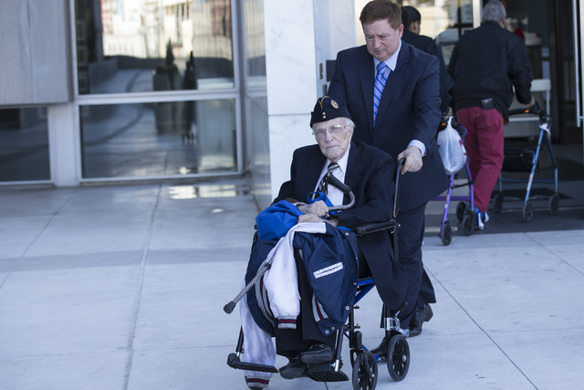 Dr. Henri Wetselaar, 92, charged with money laundering, conspiracy to distribute oxycodone and conspiracy to distribute controlled substances, is wheeled out of the Lloyd George U.S. Courthouse on ...