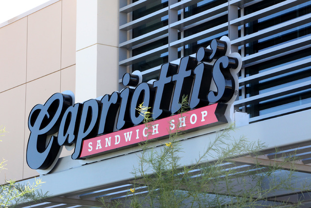 Capriotti's is shown in the marketplace section of Downtown Summerlin in Las Vegas on Wednesday, October 1, 2014.  (Justin Yurkanin/Las Vegas Review-Journal)