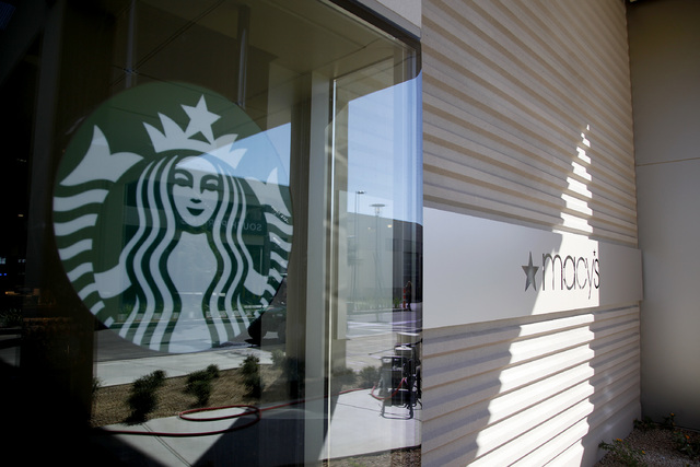 Starbucks at Macy's in Downtown Summerlin in Las Vegas on Friday, Sept. 26, 2014. (Justin Yurkanin/Las Vegas Review-Journal)