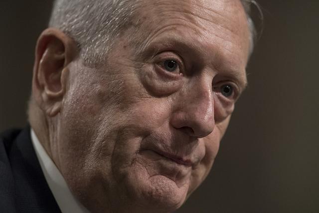 Defense Secretary-designate James Mattis testifies on Capitol Hill in Washington, Thursday, Jan. 12, 2017.  (J. Scott Applewhite/AP)