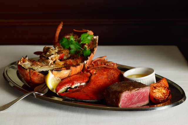 Filet mignon and a Nova Scotia lobster tail (courtesy the Palm restaurant)