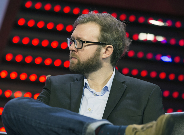 Nick Allen, director of operations, esports at Twitch listen during Sport Business Innovation session during CES 2017 at the Sands Convention Center on Thursday, Jan. 5, 2017. Around 175,000 peopl ...